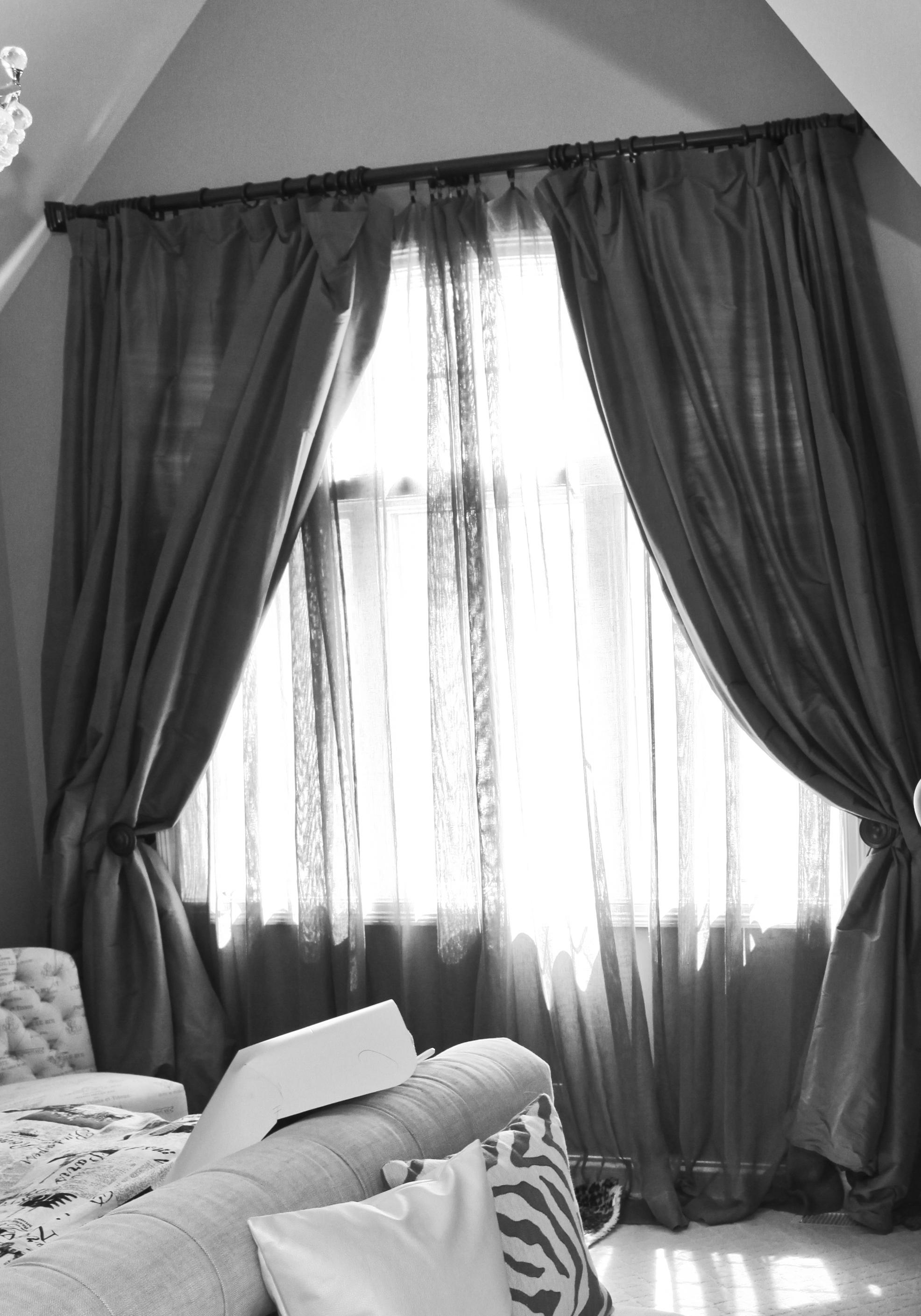 bedroom window treatment - before